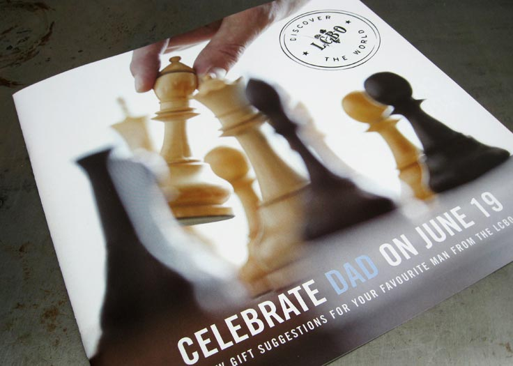 LCBO Celebrate Dad Father's Day Insert Cover