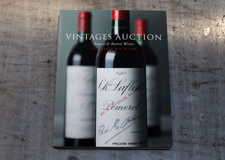 Vintages Auction Catalog Cover