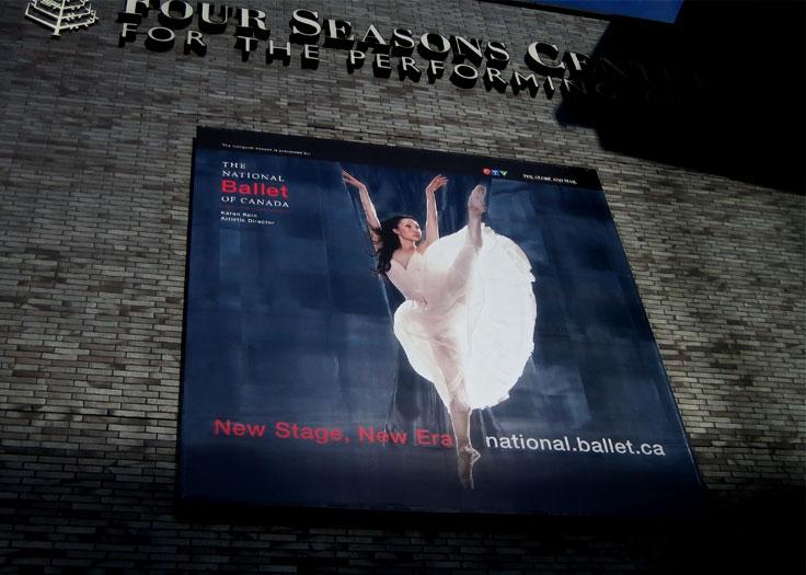 07-08 Season Ballet Banner on Four Seasons Centre