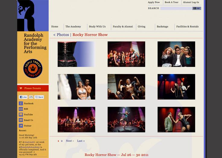 Randolph Academy Website - Rocky Horror Show