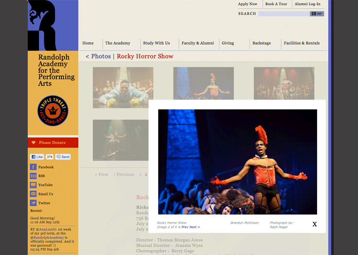 Randolph Academy Website - Rocky Horror Show Detail