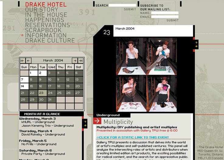 Drake Website Happenings Page