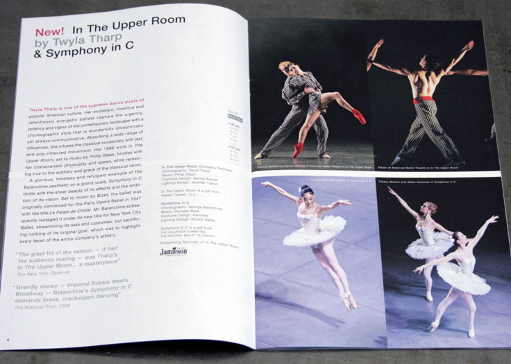 National Ballet of Canada 2008-09 Brochure Spread