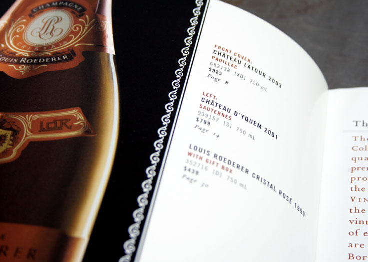 LCBO Classics Catalog Inside Front Cover