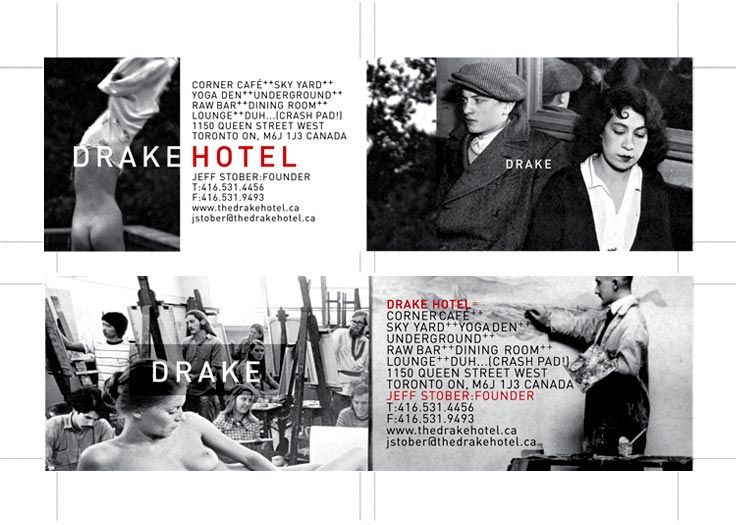 Drake Hotel Business Card Front