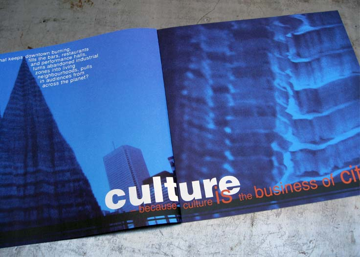 City of Toronto - Culture Brochure Spread #1