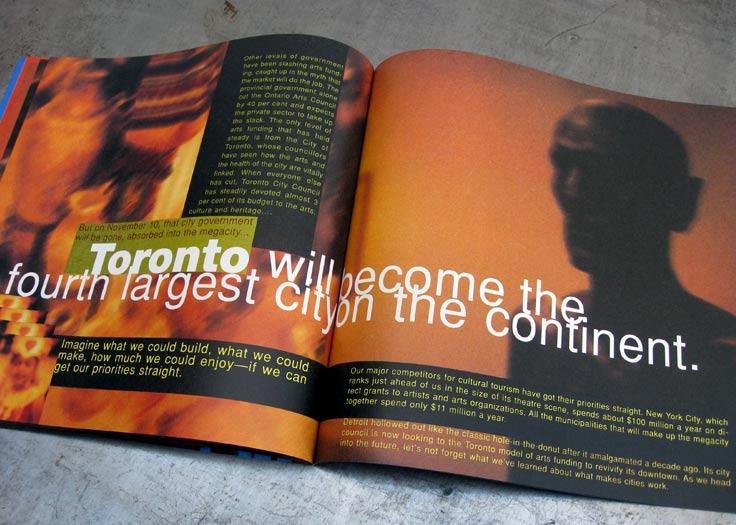 City of Toronto - Culture Brochure Spread #2