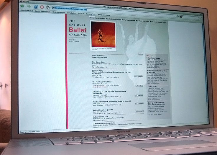 National Ballet of Canada Website